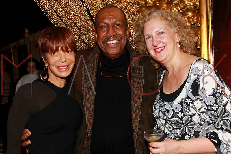 NEW YORK, NY - MARCH 11:  Music industry executive, Sylvia Rhone, dancer and choreographer George Faison and Executive VP of business affairs and general counsel for Sony Music Entertainment, Julie Swidler attends Sylvia Rhone's surprise birthday party at Goldbar on March 11, 2012 in New York City.  (Photo by Steve Mack/S.D. Mack Pictures)