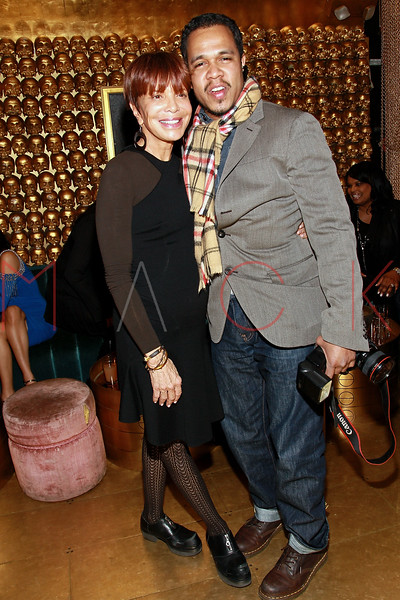 NEW YORK, NY - MARCH 11:  Music industry executive Sylvia Rhone and WireImage photographer Johnny Nunez attends Sylvia Rhone's surprise birthday party at Goldbar on March 11, 2012 in New York City.  (Photo by Steve Mack/S.D. Mack Pictures)