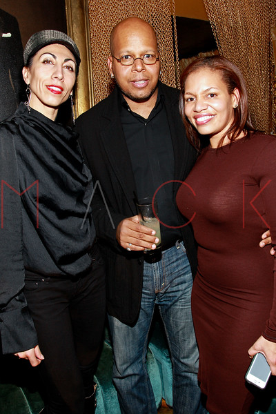NEW YORK, NY - MARCH 11:  Nejla Yatkin, Christian Davenport and Quinn Rhone attend Sylvia Rhone's surprise birthday party at Goldbar on March 11, 2012 in New York City.  (Photo by Steve Mack/S.D. Mack Pictures)