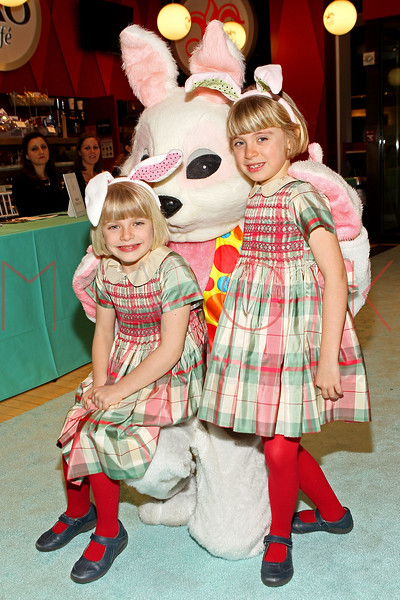 NEW YORK, NY - MARCH 06:  Guests pose with the Bunny at the 21st Annual Bunny Hop at FAO Schwarz on March 6, 2012 in New York City.  (Photo by Steve Mack/S.D. Mack Pictures)