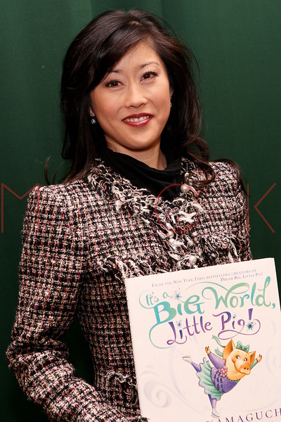 """NEW YORK, NY - MARCH 06:  Kristi Yamaguchi promotes the new book """"It's a Big World, Little Pig!"""" at Barnes & Noble Tribeca on March 6, 2012 in New York City.  (Photo by Steve Mack/S.D. Mack Pictures)"""