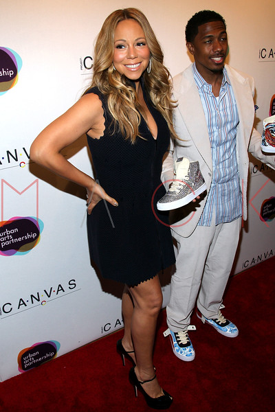 NEW YORK, NY - MAY 11:  Mariah Carey and Nick Cannon attend the Project Canvas Charity Event Hosted By Nick Cannon at The Opera Ballroom at Crest on May 11, 2012 in New York City.  (Photo by Steve Mack/S.D. Mack Pictures)