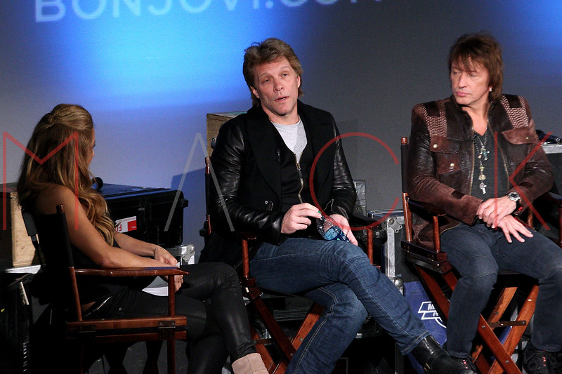 "NEW YORK, NY - NOVEMBER 27:  Jon Bon Jovi and Richie Sambora attend the ""BON JOVI Inside Out"" press conference at AMC Empire 25 theater on November 27, 2012 in New York City.  (Photo by Steve Mack/S.D. Mack Pictures)"