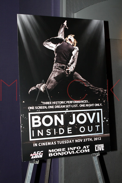 """NEW YORK, NY - NOVEMBER 27:  Atmosphere at the """"BON JOVI Inside Out"""" press conference at AMC Empire 25 theater on November 27, 2012 in New York City.  (Photo by Steve Mack/S.D. Mack Pictures)"""