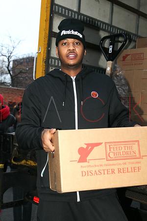 NEW YORK, NY - NOVEMBER 10:  Carmelo Anthony's Storm Relief Project on November 10, 2012 in New York City.