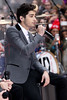 "NEW YORK, NY - NOVEMBER 13:  Louis Tomlinson of One Direction performs on NBC's ""Today"" at Rockefeller Plaza on November 13, 2012 in New York City.  (Photo by Steve Mack/S.D. Mack Pictures)"