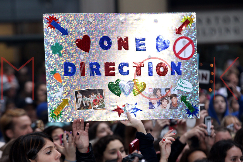 "NEW YORK, NY - NOVEMBER 13:  Atmosphere at One Direction concert on NBC's ""Today"" at Rockefeller Plaza on November 13, 2012 in New York City.  (Photo by Steve Mack/S.D. Mack Pictures)"