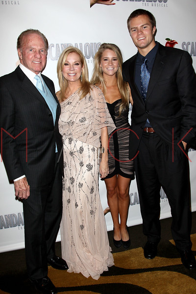 "NEW YORK, NY - NOVEMBER 15:  Frank Gifford, Kathie Lee Gifford, Cassidy Gifford and Cody Gifford attend the ""Scandalous"" Broadway Opening Night"" After Party at Copacabana on November 15, 2012 in New York City.  (Photo by Steve Mack/S.D. Mack Pictures)"
