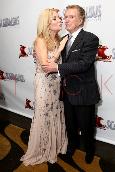 """NEW YORK, NY - NOVEMBER 15:  Kathie Lee Gifford and Regis Philbin attend the """"Scandalous"""" Broadway Opening Night"""" After Party at Copacabana on November 15, 2012 in New York City.  (Photo by Steve Mack/S.D. Mack Pictures)"""