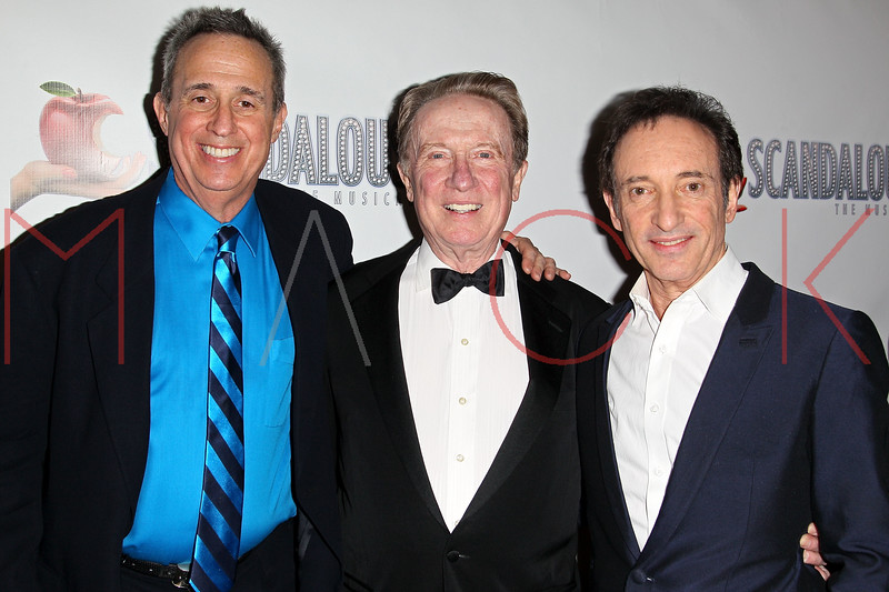 """NEW YORK, NY - NOVEMBER 15:  David Friedman , George Hearn and David Pomeranz attends the """"Scandalous"""" Broadway Opening Night"""" After Party at Copacabana on November 15, 2012 in New York City.  (Photo by Steve Mack/S.D. Mack Pictures)"""