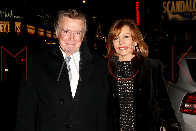 "NEW YORK, NY - NOVEMBER 15:  Regis and Joy Philbin attend the ""Scandalous"" Broadway Opening Night""at Neil Simon Theatre on November 15, 2012 in New York City.  (Photo by Steve Mack/S.D. Mack Pictures)"