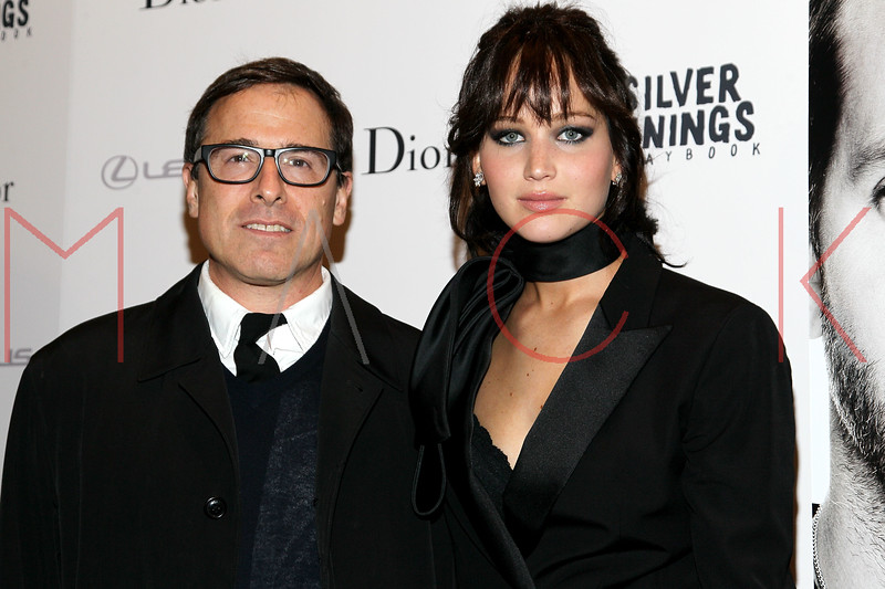"""NEW YORK, NY - NOVEMBER 11:  David Russell and Jennifer Lawrence attend the """"Silver Linings Playbook"""" premiere at Florence Gould Hall on November 11, 2012 in New York City.  (Photo by Steve Mack/S.D. Mack Pictures)"""