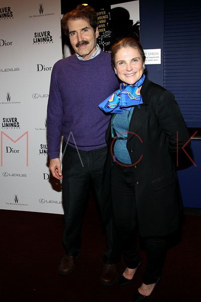 "NEW YORK, NY - NOVEMBER 11:  John Stossel and Tovah Feldshun attend the ""Silver Linings Playbook"" premiere at Florence Gould Hall on November 11, 2012 in New York City.  (Photo by Steve Mack/S.D. Mack Pictures)"