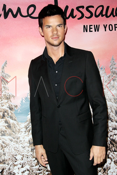 "NEW YORK, NY - NOVEMBER 15:  Taylor Lautner's wax figure at the Taylor Lautner ""The Twilight Saga"" wax figure unveiling at Madame Tussauds on November 15, 2012 in New York City.  (Photo by Steve Mack/S.D. Mack Pictures)"