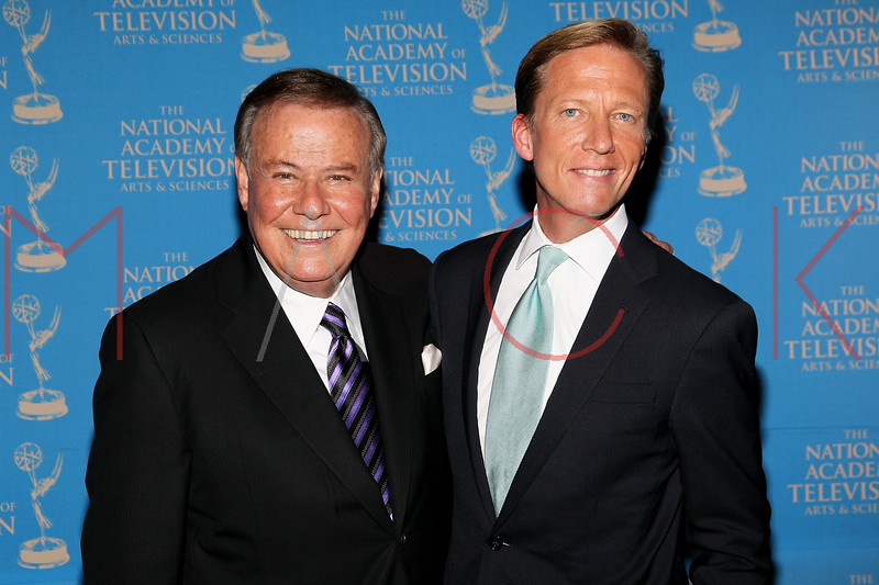 NEW YORK, NY - OCTOBER 01:  Marvin Scott and N.J. Burkett attend the 33rd annual News & Documentary Emmy awards at Frederick P. Rose Hall, Jazz at Lincoln Center on October 1, 2012 in New York City.  (Photo by Steve Mack/S.D. Mack Pictures)