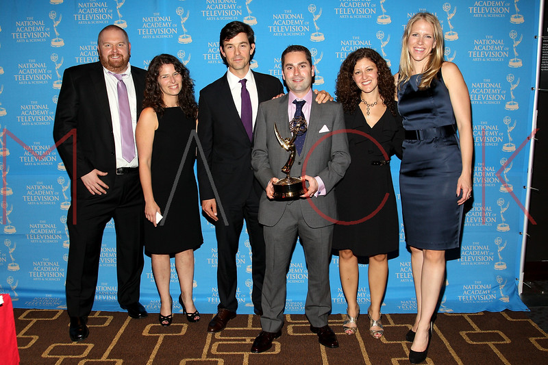 NEW YORK, NY - OCTOBER 01:  Ben Finley, Kerry Rubin, Charlie Moore, Chuck Hadad, Penny Manis and Maryanne Fox attends the 33rd annual News & Documentary Emmy awards at Frederick P. Rose Hall, Jazz at Lincoln Center on October 1, 2012 in New York City.  (Photo by Steve Mack/S.D. Mack Pictures)