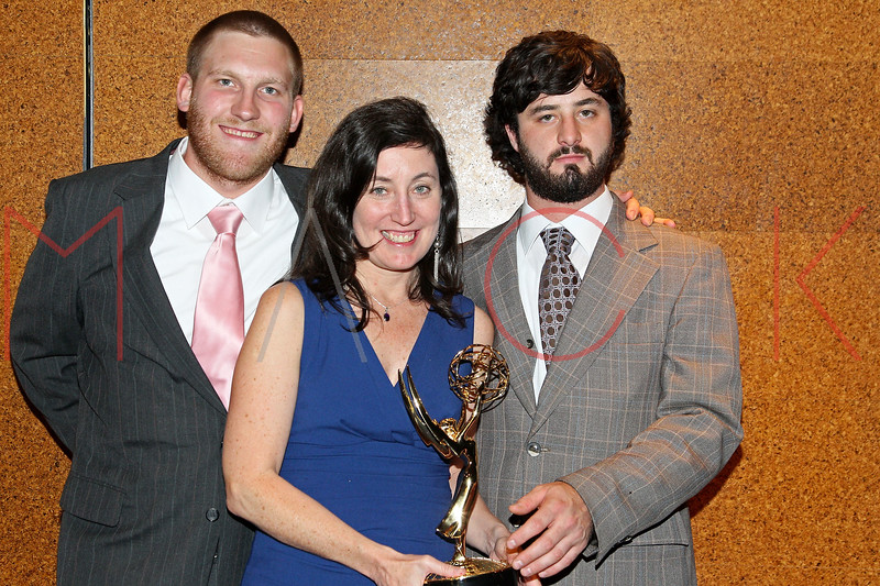 NEW YORK, NY - OCTOBER 01:  Cole Smith, Heather Courtney and Dominic Fredianelli attend the 33rd annual News & Documentary Emmy awards at Frederick P. Rose Hall, Jazz at Lincoln Center on October 1, 2012 in New York City.  (Photo by Steve Mack/S.D. Mack Pictures)