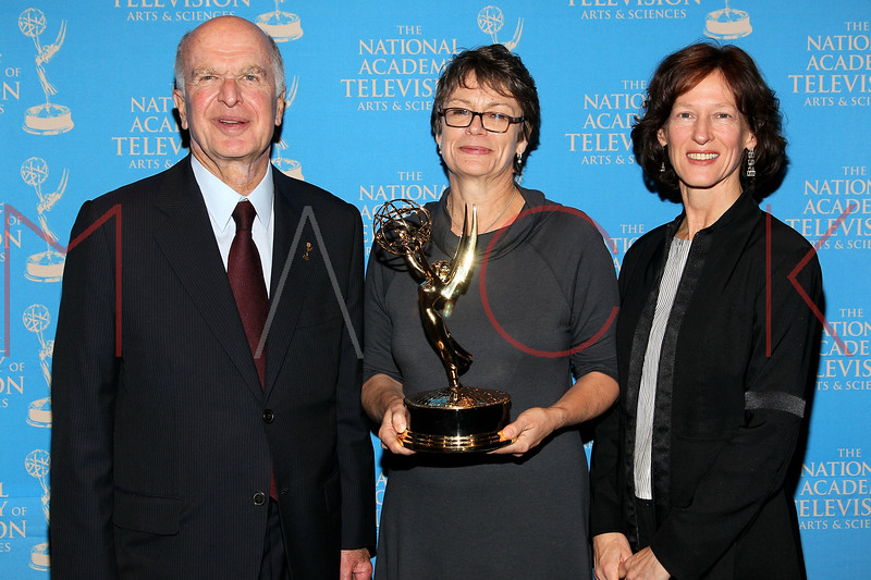 NEW YORK, NY - OCTOBER 01:  Bruce Paisner, Jackie Corkery and Sue Dando attend the 33rd annual News & Documentary Emmy awards at Frederick P. Rose Hall, Jazz at Lincoln Center on October 1, 2012 in New York City.  (Photo by Steve Mack/S.D. Mack Pictures)