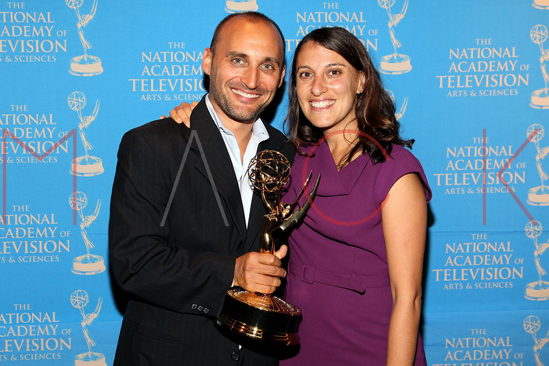 NEW YORK, NY - OCTOBER 01:  Amir Bar-Lev and Jennifer Bleyer attend the 33rd annual News & Documentary Emmy awards at Frederick P. Rose Hall, Jazz at Lincoln Center on October 1, 2012 in New York City.  (Photo by Steve Mack/S.D. Mack Pictures)