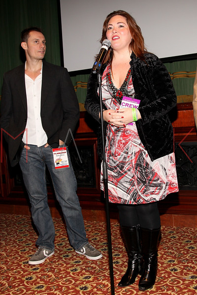ATLANTIC CITY, NJ - OCTOBER 14:  Keith Collins and Blaze Kelly Coyle attend the Atlantic City Film Festival awards ceremony at Dante Hall Theater on October 14, 2012 in Atlantic City, New Jersey.  (Photo by Steve Mack/S.D. Mack Pictures)
