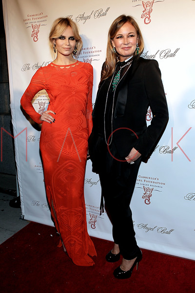 NEW YORK, NY - OCTOBER 22:  Natasha Poly and Eva Cavalli at Cipriani Wall Street on October 22, 2012 in New York City.  (Photo by Steve Mack/S.D. Mack Pictures)