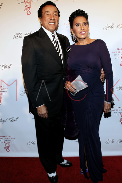 NEW YORK, NY - OCTOBER 22:  Smokey Robinson and Frances Robinson at Cipriani Wall Street on October 22, 2012 in New York City.  (Photo by Steve Mack/S.D. Mack Pictures)