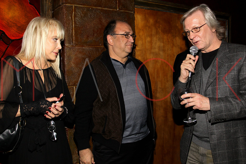 """NEW YORK, NY - OCTOBER 10:  Carol Miller, Roger Friedman and Jim Kerr promote the book """"Up All Night, My Life and Times in Rock Radio"""" at The Cutting Room on October 10, 2012 in New York City.  (Photo by Steve Mack/S.D. Mack Pictures)"""