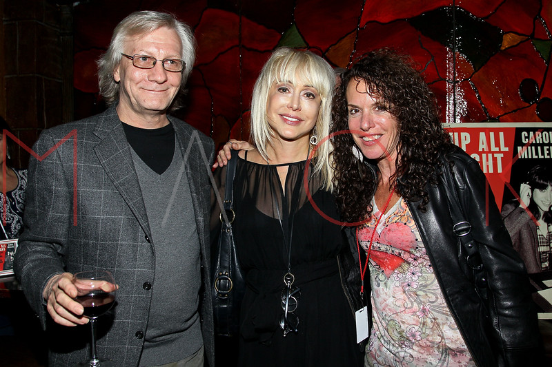 "NEW YORK, NY - OCTOBER 10:  Jim Kerr, Carol Miller and Shelly Sonstein promote the book ""Up All Night, My Life and Times in Rock Radio"" at The Cutting Room on October 10, 2012 in New York City.  (Photo by Steve Mack/S.D. Mack Pictures)"