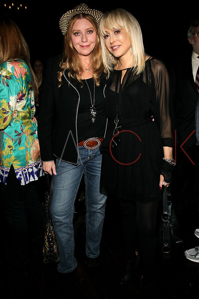 """NEW YORK, NY - OCTOBER 10:  Bebe Buell and Carol Miller promote the book signing for """"Up All Night, My Life and Times in Rock Radio"""" at The Cutting Room on October 10, 2012 in New York City.  (Photo by Steve Mack/S.D. Mack Pictures)"""