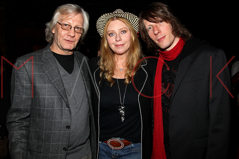 """NEW YORK, NY - OCTOBER 10:  Jim Kerr, Bebe Buell and Jimmy Walls attend the book signing for """"Up All Night, My Life and Times in Rock Radio"""" at The Cutting Room on October 10, 2012 in New York City.  (Photo by Steve Mack/S.D. Mack Pictures)"""