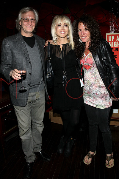 """NEW YORK, NY - OCTOBER 10:  Jim Kerr, Carol Miller and Shelly Sonstein promote the book """"Up All Night, My Life and Times in Rock Radio"""" at The Cutting Room on October 10, 2012 in New York City.  (Photo by Steve Mack/S.D. Mack Pictures)"""