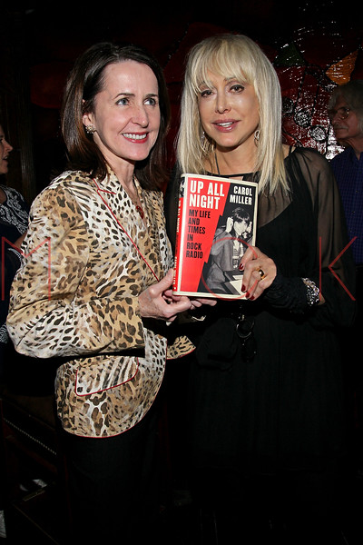 """NEW YORK, NY - OCTOBER 10:  Author Carol Higgins Clark and Carol Miller promote the book """"Up All Night, My Life and Times in Rock Radio"""" at The Cutting Room on October 10, 2012 in New York City.  (Photo by Steve Mack/S.D. Mack Pictures)"""