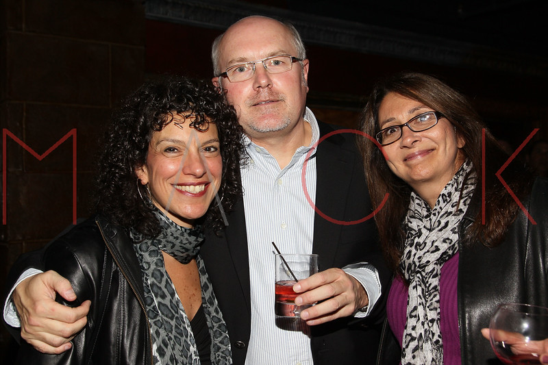 """NEW YORK, NY - OCTOBER 10:  Maria Milito, Bill Erdek and Denise Oliver attend the book signing for """"Up All Night, My Life and Times in Rock Radio"""" at The Cutting Room on October 10, 2012 in New York City.  (Photo by Steve Mack/S.D. Mack Pictures)"""