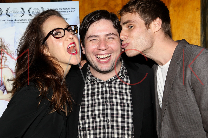 """NEW YORK, NY - OCTOBER 10:  Jenn Harris, Director Jonathan Lisecki and Matthew Wilkas attend """"Gaybe"""" New York Premiere at Crosby Street Hotel on October 10, 2012 in New York City.  (Photo by Steve Mack/S.D. Mack Pictures)"""