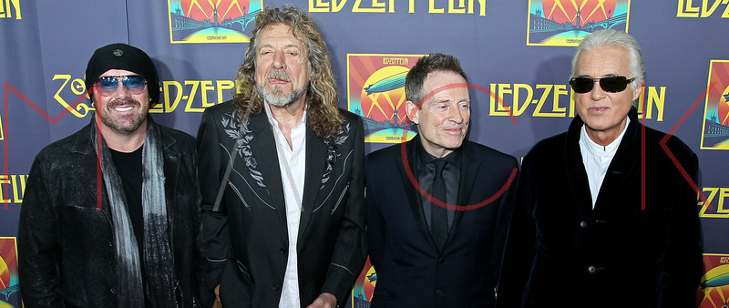 "NEW YORK, NY - OCTOBER 09:  Jason Bonham, Robert Plant, John Paul Jones and Jimmy Page attend the ""Led Zeppelin: Celebration Day"" premiere at the Ziegfeld Theater on October 9, 2012 in New York City.  (Photo by Steve Mack/S.D. Mack Pictures)"