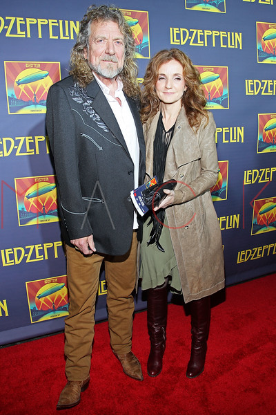 "NEW YORK, NY - OCTOBER 09:  Robert Plant (L) attends the ""Led Zeppelin: Celebration Day"" premiere at the Ziegfeld Theater on October 9, 2012 in New York City.  (Photo by Steve Mack/S.D. Mack Pictures)"