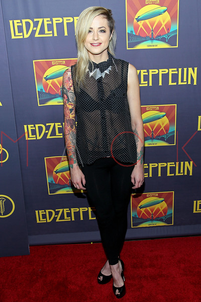 "NEW YORK, NY - OCTOBER 09:  Carah Faye attends the ""Led Zeppelin: Celebration Day"" premiere at the Ziegfeld Theater on October 9, 2012 in New York City.  (Photo by Steve Mack/S.D. Mack Pictures)"