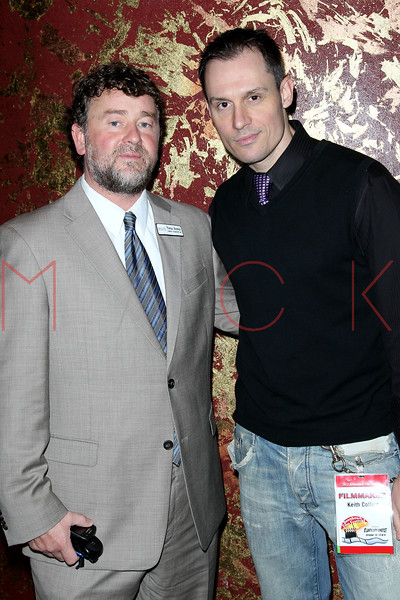 """ATLANTIC CITY, NJ - OCTOBER 13:  Tom Brannick and Keith Collins attend the """"Meat Puppet-World Premiere"""" party at DUSK at Caesars Atlantic City on October 13, 2012 in Atlantic City, New Jersey.  (Photo by Steve Mack/S.D. Mack Pictures)"""