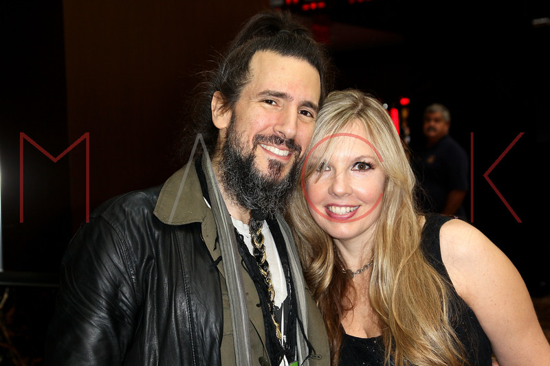 "ATLANTIC CITY, NJ - OCTOBER 13:  Ron ""Bumblefoot"" Thal (L) of Guns N Roses attends the ""Meat Puppet-World Premiere"" party at DUSK at Caesars Atlantic City on October 13, 2012 in Atlantic City, New Jersey.  (Photo by Steve Mack/S.D. Mack Pictures)"