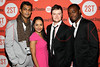 "NEW YORK, NY - OCTOBER 15:  Utkarsh Ambudkar, Nitya Vidyasagar, Steven Boyer and William Jackson Harper attend ""Modern Terrorism"" Off Broadway Opening Night at HB Burger on October 15, 2012 in New York City.  (Photo by Steve Mack/S.D. Mack Pictures)"