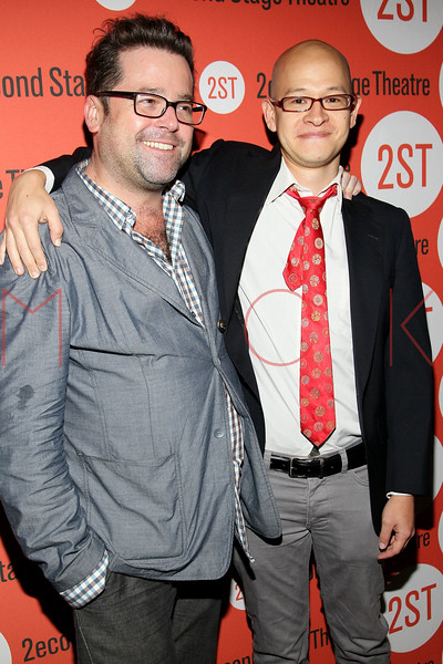 "NEW YORK, NY - OCTOBER 15:  Peter DuBois and Jon Kern attends ""Modern Terrorism"" Off Broadway Opening Night at HB Burger on October 15, 2012 in New York City.  (Photo by Steve Mack/S.D. Mack Pictures)"