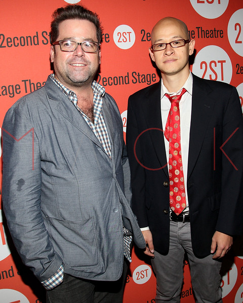 "NEW YORK, NY - OCTOBER 15:  Peter DuBois and Jon Kern attend ""Modern Terrorism"" Off Broadway Opening Night at HB Burger on October 15, 2012 in New York City.  (Photo by Steve Mack/S.D. Mack Pictures)"