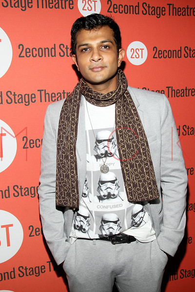 """NEW YORK, NY - OCTOBER 15:  Utkarsh Ambudkar attends """"Modern Terrorism"""" Off Broadway Opening Night at HB Burger on October 15, 2012 in New York City.  (Photo by Steve Mack/S.D. Mack Pictures)"""