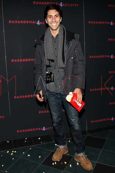 """NEW YORK, NY - OCTOBER 16:  Yaniv ÒNevÓ Schulman attends the """"Paranormal Activity 4"""" screening at Regal E-Walk Stadium 13 on October 16, 2012 in New York City.  (Photo by Steve Mack/S.D. Mack Pictures)"""