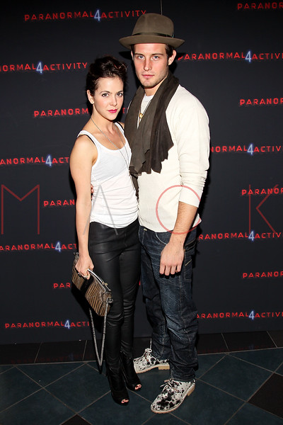 """NEW YORK, NY - OCTOBER 16:  Nico Tortorella (R) attends the """"Paranormal Activity 4"""" screening at Regal E-Walk Stadium 13 on October 16, 2012 in New York City.  (Photo by Steve Mack/S.D. Mack Pictures)"""