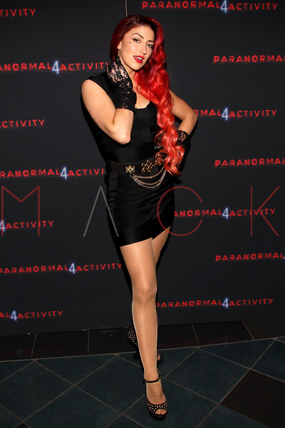 """NEW YORK, NY - OCTOBER 16:  Neon Hitch attends the """"Paranormal Activity 4"""" screening at Regal E-Walk Stadium 13 on October 16, 2012 in New York City.  (Photo by Steve Mack/S.D. Mack Pictures)"""