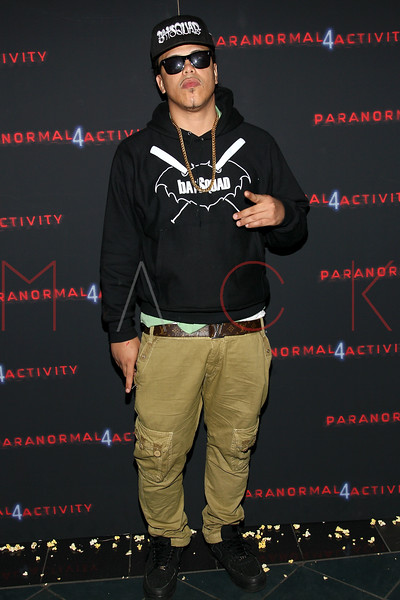 """NEW YORK, NY - OCTOBER 16:  Ax attends the """"Paranormal Activity 4"""" screening at Regal E-Walk Stadium 13 on October 16, 2012 in New York City.  (Photo by Steve Mack/S.D. Mack Pictures)"""
