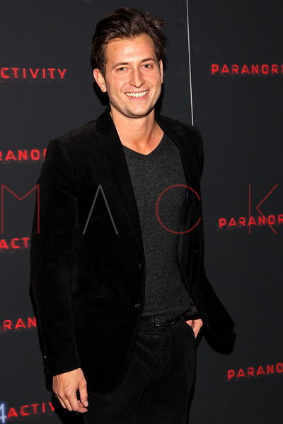 "NEW YORK, NY - OCTOBER 16:  Peter Cincotti attends the ""Paranormal Activity 4"" screening at Regal E-Walk Stadium 13 on October 16, 2012 in New York City.  (Photo by Steve Mack/S.D. Mack Pictures)"