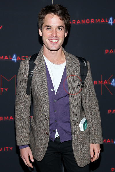 """NEW YORK, NY - OCTOBER 16:  Tim Matthews attends the """"Paranormal Activity 4"""" screening at Regal E-Walk Stadium 13 on October 16, 2012 in New York City.  (Photo by Steve Mack/S.D. Mack Pictures)"""