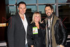 """ATLANTIC CITY, NJ - OCTOBER 14:  Keith Collins, Geri Reischl and Ron ÒBumblefootÓ Thal attend the world premiere of """"The Meat Puppet"""" at the Golden Nugget Hotel & Casino on October 14, 2012 in Atlantic City, New Jersey.  (Photo by Steve Mack/S.D. Mack Pictures)"""